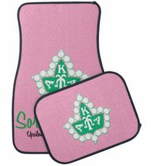 AKA Auto Mats - Alpha Kappa Alpha Sorority Car Mats - Pink or Black - Designs by Dee's Hands - 5