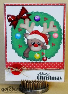 """This week the Joy's Life DT showcased Christmas projects using Joy's Life """"Oh Christmas Puns"""" and """"Wintery Pun. Christmas Puns, Merry Christmas Card, Christmas Projects, Christmas Ornaments, Cut Image, Winter Cards, Life Design, Happy Saturday, Stamping Up"""