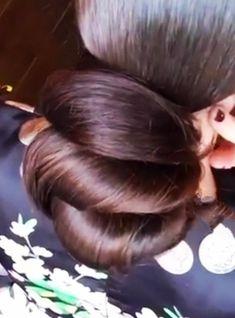 Thick Hair Bob Haircut, Bun Hairstyles For Long Hair, Big Bun, Hair Buns, Very Long Hair, Amazing Hair, Hair Pictures, Exotic