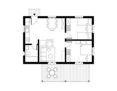 Prefab House 55 sqm, Floor Plan - www.pzarch.gr