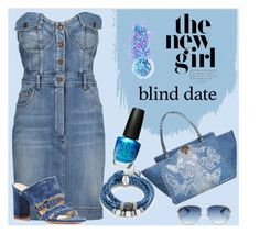 """""""denim"""" by alice-fortuna on Polyvore featuring Moschino, Valentino, Marion Parke, Christian Dior, In Your Dreams, OPI and Lizzy James"""