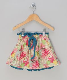 Red Coquelicot Floral Skirt - Infant, Toddler & Girls