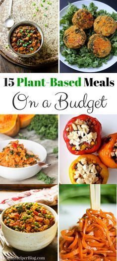 15 Plant-Based Meals on a Budget from Healthy Helper...vegan and vegetarian meals the whole family will love! Healthy eating doesn't have to be expensive and these delicious, nutritious dishes prove that! http://healthyhelperblog.com?utm_source=utm_source%3DPinterest&utm_medium=utm_medium%3Dsocialmedia&utm_campaign=utm_campaign%3Dblogpost