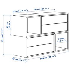 EKET Wall-mounted cabinet combination - white, white stained oak effect - IKEA Ikea Eket, Ikea Desk, Flexible Furniture, Bois Diy, Plastic Foil, Painted Drawers, White Stain, Steel Wall, Drawer Fronts