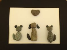 Custom order of a stone dog and two cats! What fun. Check out my Etsy shop for more designs!