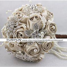 8Inch Bridal Flower Wedding Jewelry Brooch by BridalBroochBouquet, $260.00