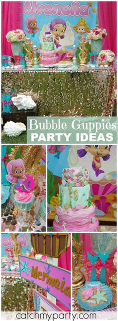 A whimsical under the sea soiree along side with Bubble Guppies! See more party ideas at Catchmyparty.com!