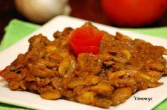 Mushroom Roast (Kerala, Indian Style)