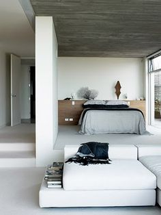 The house Gilardi by architect Luis Barragan Morfin, Luxury House Design, House Design, Interior House Design Bedroom Interior Design by Pam. Dream Bedroom, Home Bedroom, Bedroom Decor, Bedrooms, Fancy Bedroom, Design Bedroom, Modern Bedroom, Bedroom Alcove, Bedroom Divider