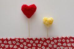 Pompones corazón