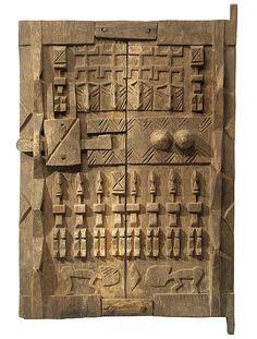 Africa | Granary door from the Dogon people of Mali | Wood Old Wood Doors, Arched Windows, Windows And Doors, Entrance Doors, Doorway, Door Knockers, Door Knobs, Door Accessories, Africa Art