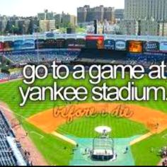 yankees(been to the old one, I want to got to the new one)
