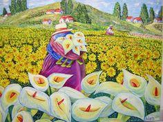 pinturas peruanas al oleo - Buscar con Google Peruvian Art, Latino Art, Mexico Art, Arte Popular, Arte Floral, Naive Art, Art Pages, Fabric Painting, Art Oil