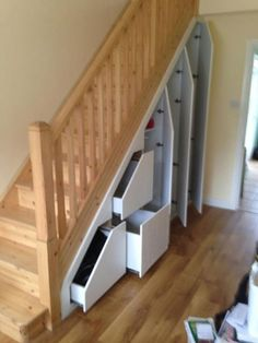 Closet Under Stairs Storage solutions - Closet Under Stairs Storage solutions , Under Stairs Storage top How to Find Space Under Stairs Closet Under Stairs, Under Stairs Cupboard, Stairs With Drawers, Open Stairs, Stairway Storage, Storage Stairs, Under Stairs Storage Solutions, Deep Closet, Closet Drawers