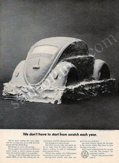 "1969 Volkswagen Beetle Car Ad ""Scratch""-Original-Stills Of Time"