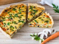 Whether vegetable cake or vegetable quiche called, this recipe for the vegetarian . - Whether vegetable cake or vegetable quiche called, this recipe for the vegetarian vegetable quiche is simply gorgeous. Everybody should try this quiche! Healthy Burger Recipes, Vegan Breakfast Recipes, Vegetable Recipes, Vegetarian Recipes, Sandwich Recipes, Vegetable Cake, Vegetable Quiche, Sandwich Vegan, Vegan Burgers