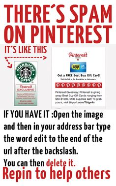 HOW TO DELETE SPAM ON PINTEREST@Bendrix