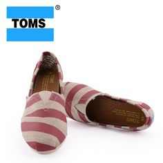 Red Zebra Toms Canvas Shoes