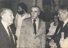 Com Leonel Brizola ( governador do Rio de Janeiro) e Romesh Chandra (presidente do Conselho Mundial da Paz).  Agosto de 1985