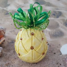 Pineapple Ornament Colonial Williamsburg Pineapple Welcome Pineapple Aloha Hawaiian Pineapple Tropical Caribbean Christmas Quilted Pineapple Folded Fabric Ornaments, Quilted Christmas Ornaments, Beaded Ornaments, Handmade Ornaments, Christmas Decorations, Glitter Ornaments, Ball Ornaments, Felt Christmas, Homemade Christmas