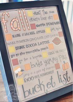 #Fall Bucket List #Printable from Funky Polkadot Giraffe, featured at printabledecor.net