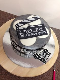 Film Reel birthday cake for a media guru!