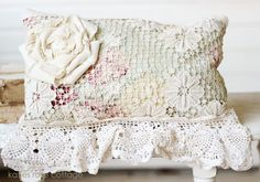 Vintage French Lace Pillow