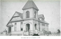 Simi School taken on its completion in 1890 from Early Days in Simi Valley by RE Harrington