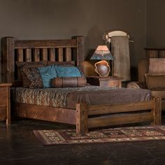 Old Sawmill Timber Frame Barn Wood Bed Rustic Reclaimed Barn Wood Bed Rustic Bedroom Furniture, Rustic Bedding, Farmhouse Bedroom Decor, Home Furniture, Furniture Ideas, Modern Bedroom, Contemporary Bedroom, Wooden Furniture, Antique Furniture