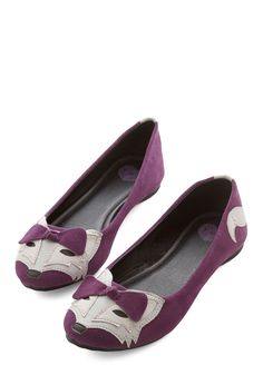 Clever so Sweet Flat in Grape. This item is a new colorway of one of your favorite Be the Buyer picks! #purple #modcloth