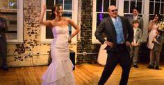 Pai e filha prepararam uma grande surpresa no casamento que ninguém esperava