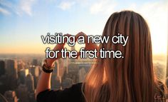 visiting a new city for the first time