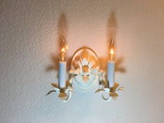 sconcewhite rustic wall sconce wall lamp by HandmadeLightingCo $65.00