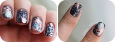 Punked Child: Tutorial | Adesivos de Unha em Galaxy Splatter Nails