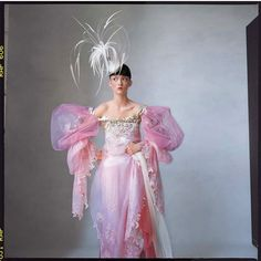 """""""Audrey Marnay wearing Christian Lacroix haute couture (and a hat by Philip Treacy), photographed by Irving Penn for Vogue in —…"""" Source by ellisfarrell couture embroidery Irving Penn, Christian Lacroix, Christian Christian, Haute Couture Dresses, Couture Fashion, Philip Treacy Hats, Elie Saab Fall, Cocktail Hat, 2000s Fashion"""