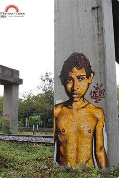 Graffiti art on Hopewell Structure,Monument of Corruption in Thailand. 2013 #Graffiti #Art