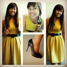 Mustard skater dress Skater Dress, Mustard, Ootd, Dresses, Mustard Plant, Gowns, Dress, Skater Dresses, Day Dresses