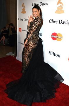Pin for Later: Miley, Patrick, and Taylor Lead the Star Parade at Clive Davis's Grammys Gala Jordin Sparks