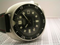 Seiko 6105-8110 issued to Swedish Marine (mine divers and coast artillary) from 1975-1984 (??). The three crowns on the back are the mark for Swedish military.