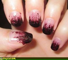 """The perfect nails for a zombie-glam flapper!! """"The Great Undead Gatsby!!"""""""