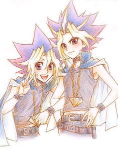 yugi and yami! Gahhh!!!! I miss yu-gi-oh!!!