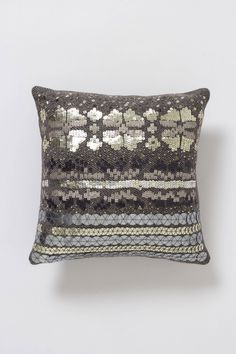 "Anthropologie - Sequinned ""Fair Isle"" pillow"
