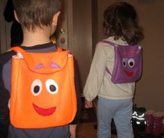 Make your own Dora Backpack and Diego Rescue Pack