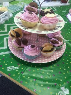 Cup cakes on display for our coffee morning