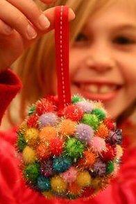 Bolas de Navidad con pompones