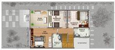 Sobrado com salas de estar e jantar conjugados, e cozinha bem ampla com bancada que liga a sala de jantar        Sua garagem possui 15,75 m2 de área.        Com 2 dormit...
