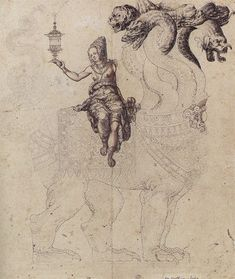 Whore of Babylon (1560), by anonymous, Swiss School, Bern