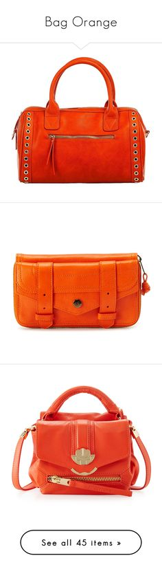 """""""Bag Orange"""" by sunnyia ❤ liked on Polyvore featuring bags, handbags, satchel style purse, red bag, satchel handbags, red purse, red satchel handbag, shoulder bags, purses and orange shoulder bag"""