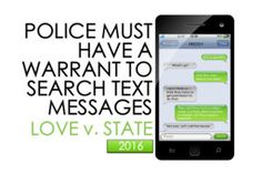Police Must Obtain Search Warrant to See Content of Text Messages