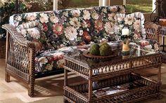 Wicker Futon Bar Harbor Kozykingdom 332 346 Beach House Furniture Home